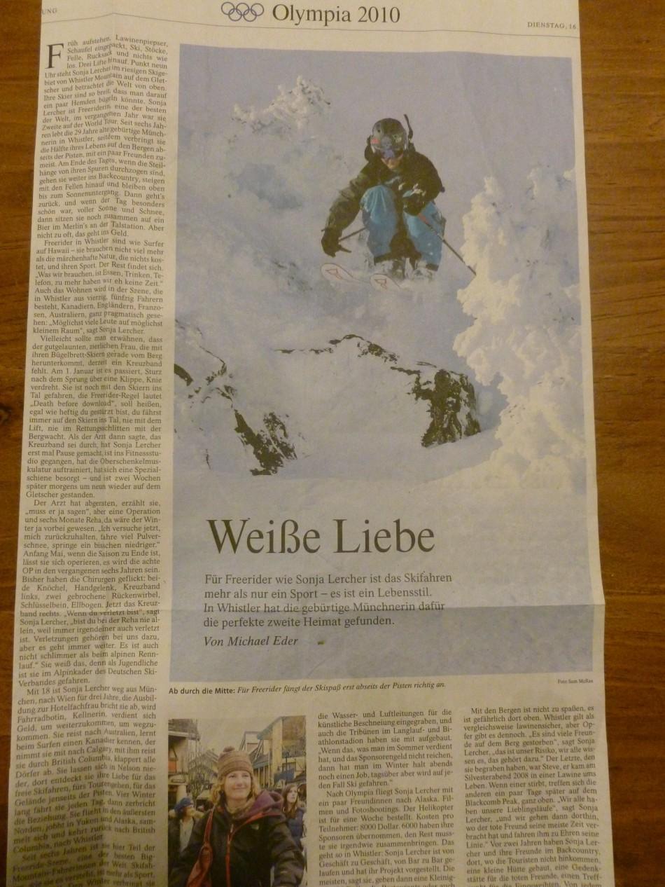 Frankfurter Allgemeine Zeitung - Sports Artikel by Michael Eder